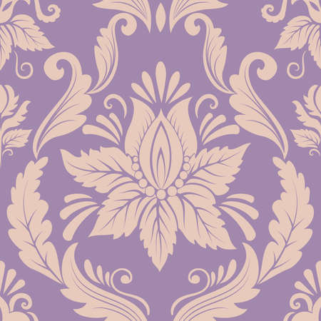 Photo pour Vector damask seamless pattern element - image libre de droit