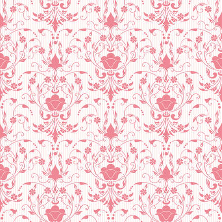 Illustration pour Vector damask seamless pattern background. Elegant luxury texture for wallpapers, backgrounds and page fill. - image libre de droit