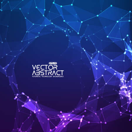 Illustration pour Abstract vector background. Futuristic technology style. Elegant background for business presentations. - image libre de droit