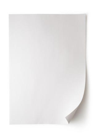 Foto de Blank sheet of paper on white background - Imagen libre de derechos