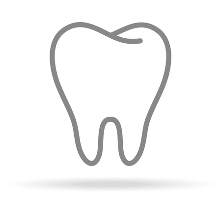 Ilustración de Human Tooth, Stomatology Icon In Trendy Thin Line Style Isolated On White Background. Medical Symbol For Your Design, Apps, Logo, UI. Vector Illustration, Eps10. - Imagen libre de derechos