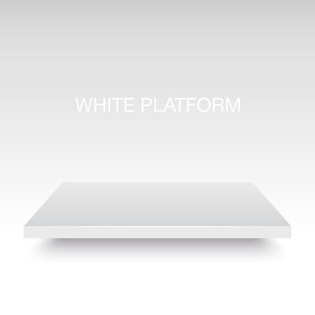 Illustration pour White vector platform stand. Realistic template for your design. - image libre de droit