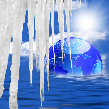 Sudden thawing of glaciers will lead to global warming and flooding of many territories