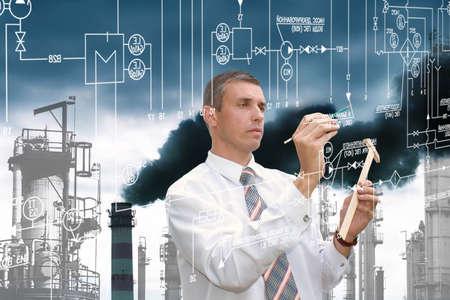 Photo pour Engineering industrial technology - image libre de droit