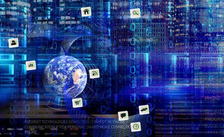 Foto de Wireless internet technologies - Imagen libre de derechos