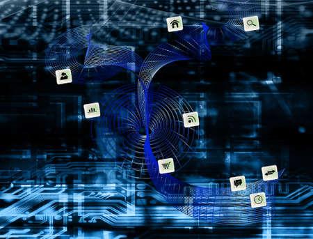Foto de Innovation cyber wireless internet concept - Imagen libre de derechos