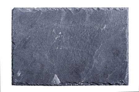 Foto de Rough textured slate board on white background - Imagen libre de derechos