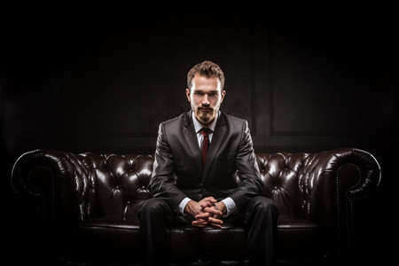 Foto de Young confident businessman in a suit - Imagen libre de derechos