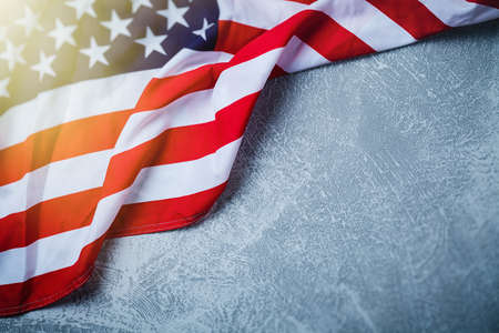 Photo for USA flag on grey background - Royalty Free Image