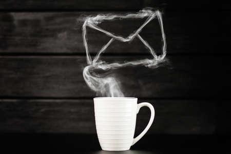 Foto de White coffee mug - Imagen libre de derechos