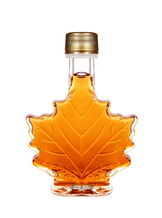 Photo for Maple Syrup Bottle Isolated On A White Background - Royalty Free Image