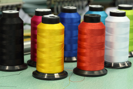 Foto de reels of thread of Machine embroider - Imagen libre de derechos