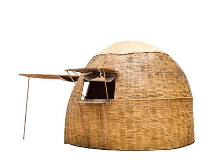 Photo pour small hut retail shop on white background - image libre de droit
