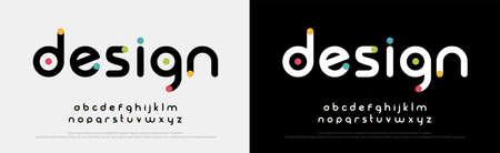 Illustration pour Future font creative modern alphabet fonts. Typography colorful bold witn color dot regular. vector illustrator - image libre de droit