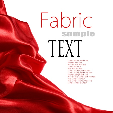 red satin fabric with place for your text