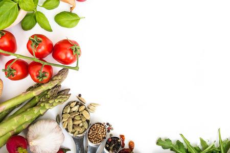 Foto de Vegetables on a white background - Imagen libre de derechos