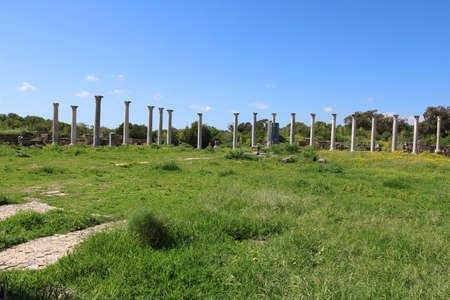 Foto de Romans ruins of the city of Salamis, near Famagusta, Northern Cyprus - Imagen libre de derechos