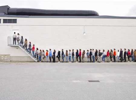Photo for Large group of people waiting in line - Royalty Free Image