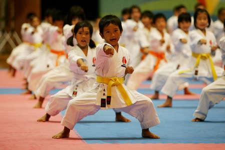 Okinawa, Japan- August 16, 2009- Karate & Kobudo world tournament