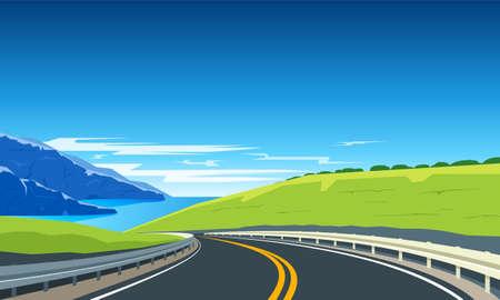 Illustration pour Turning highway banner. - image libre de droit