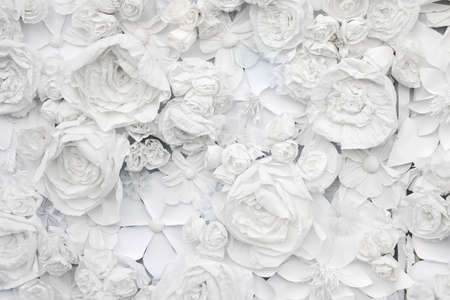 Photo for decorative background from white paper flowers of a paper-mache - Royalty Free Image