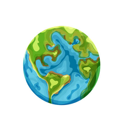 Illustration pour Cartoon earth. Vector clip art illustration on white background - image libre de droit