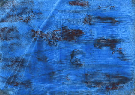 Foto de Hand-drawn abstract watercolor. Used colors: Bright navy blue, Denim, Tufts Blue, Bleu de France, Cyan cobalt blue, Lapis lazuli, Metallic blue, Bdazzled blue, Cyan-blue azure - Imagen libre de derechos