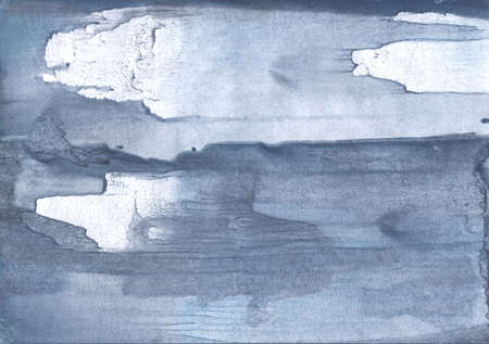 Photo for Colorful watercolor work painted on paper sheet. Light slate gray drawing. - Royalty Free Image