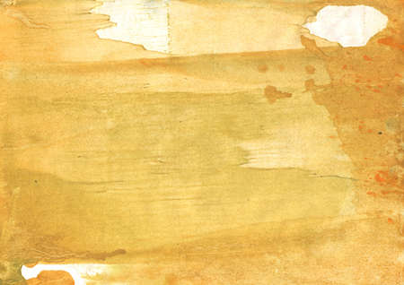 Photo for Colorful work painted on paper. Sandy brown aquarelle painting. - Royalty Free Image