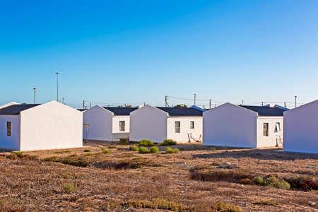 Foto de Low cost RDP housing, South Africa - Imagen libre de derechos