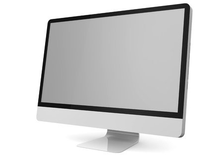 isolated render of a computer monitor