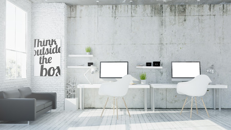 Photo for 3d rendering of coworking office - Royalty Free Image