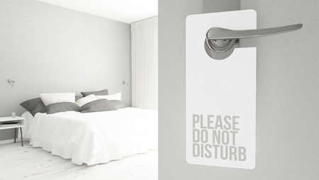 Photo for 3d rendering of a door hanger with do not disturb message - Royalty Free Image