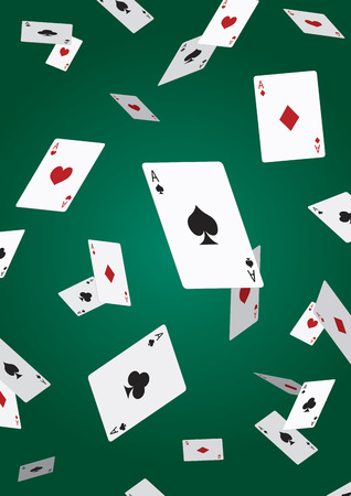 Ilustración de Ace poker card falling - Imagen libre de derechos
