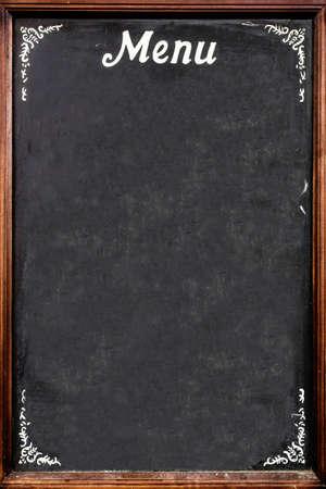 Photo pour A blackboard used as menu, in an Italian restaurant. - image libre de droit