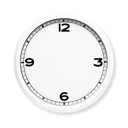 Photo pour Clock face without the hands isolated on white background. - image libre de droit