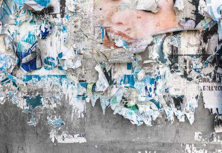 Foto de Grunge gackground with old torn posters - Imagen libre de derechos