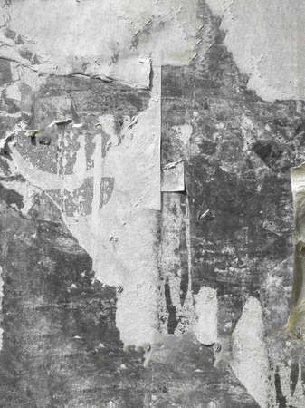 Foto de Vintage Billboard With Torn Peeled Poster. Abstract Background. - Imagen libre de derechos