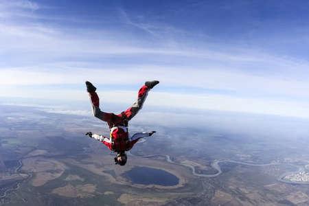 Foto de Skydiver in freefall upside down  - Imagen libre de derechos