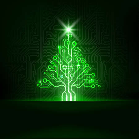 Foto für Vector abstract technology Christmas tree  - Lizenzfreies Bild
