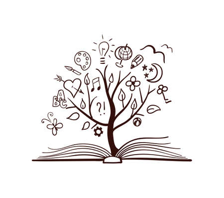 Photo pour Vector tree of knowledge - image libre de droit