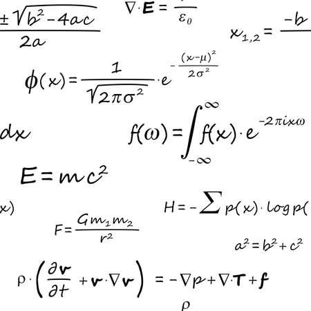 Foto de Scientific Formulas Seamless Pattern - Imagen libre de derechos
