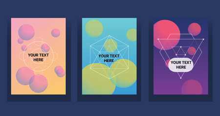 Illustration pour Liquid color covers set. Futuristic design posters. - image libre de droit