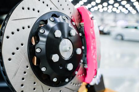 Photo pour Sports brake discs for the car. - image libre de droit