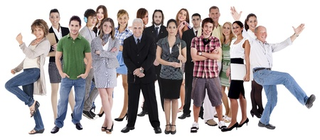 Photo for Collage of various people belonging to different industries, cultures and ethnicity - Royalty Free Image