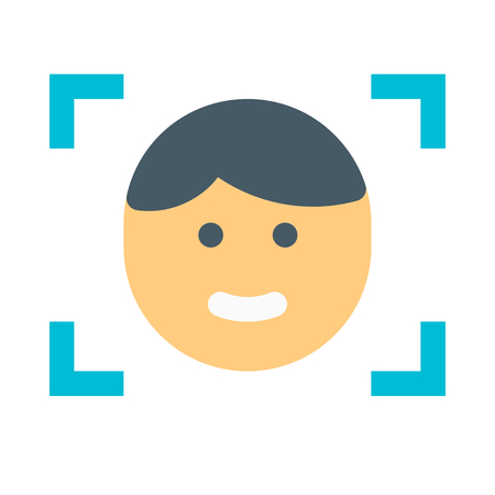 Ilustración de face recognition - Imagen libre de derechos