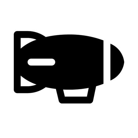 Illustration pour Blimp icon - image libre de droit