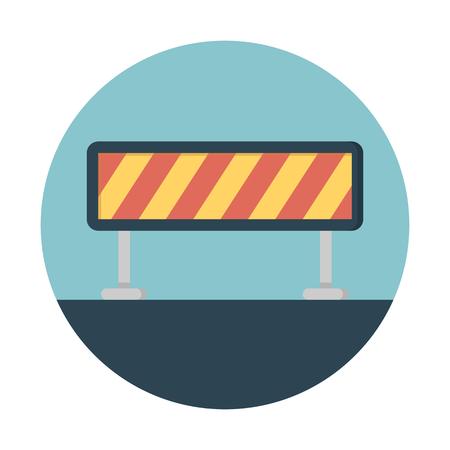 Ilustración de Roadblock barricade safety - Imagen libre de derechos
