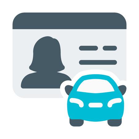 Ilustración de Driver Licence Female - Imagen libre de derechos