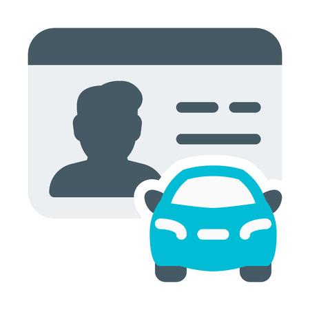 Ilustración de Driver License Male - Imagen libre de derechos